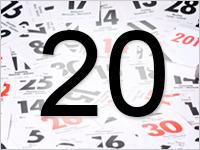 Листок календаря, 20