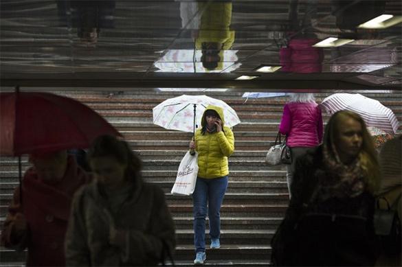 Гроза, град и дождь надвигаются на Москву. Гроза, град и дождь надвигаются на Москву