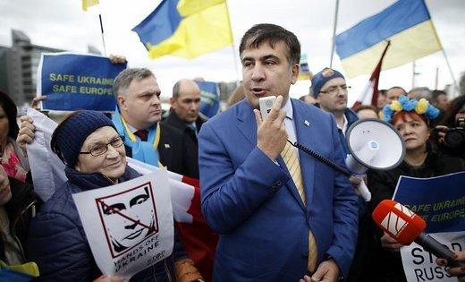 Саакашвили на улице
