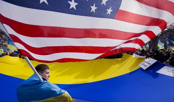 В конце марта Украину посетит делегация Конгресса США. украина флаги сша