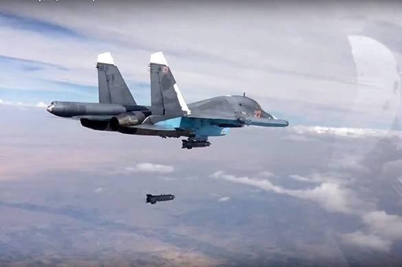 в небе Сирии, российские Су