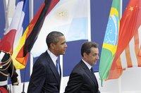 Обама надеется, что дочь Саркози будет похожа на Бруни. obama