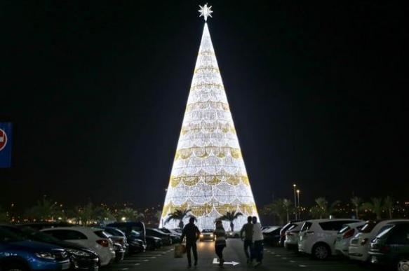 Самая высокая в Европе рождественская ель установлена в Гранаде. 396501.jpeg