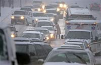 На восток США обрушился снегопад
