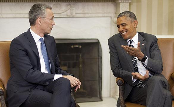 """Йенс Столтенберг: """"Укрепление НАТО наибольшее со дня окончания холодной войны"""". Столтенберг и Обама"""