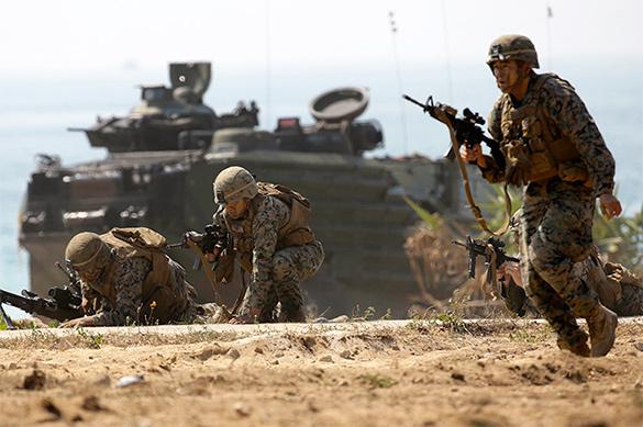 Армия США снова изнасиловала Японию десантом на Окинаву