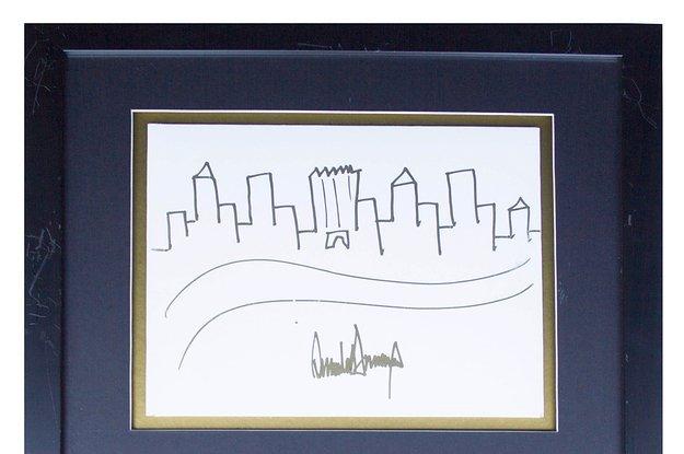 Нарисованный Трампом небоскреб ушел с аукциона почти за 30 тысяч