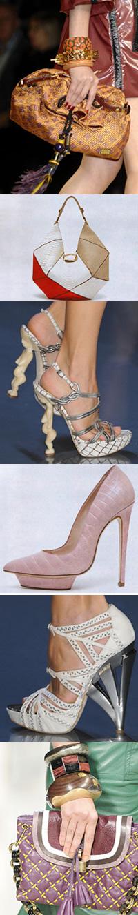 Туфли в этом сезоне также поражают воображение замысловатыми