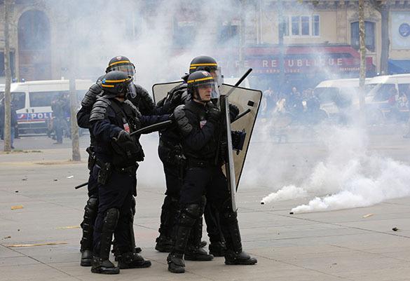 Франция протестует против трудовой реформы