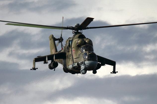 Армия США использует русские  вертолеты для имитации войны