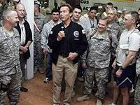 Шварценеггер приехал в Ирак, чтобы встретиться с военными
