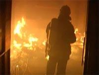 Жилое здание горит в центре Москвы
