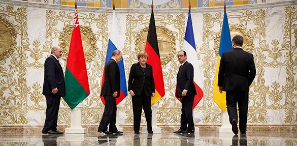 Стали известны пункты подписанного в Минске документа. минск переговоры украина россия германия франция