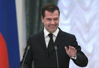 Медведев вернулся из Африки