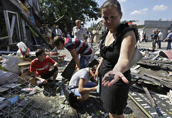 Сколько продлится война на Украине?. Последствия бомбардировки Донбасса