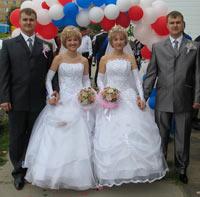 Две близнецовые свадьбы по цене одной