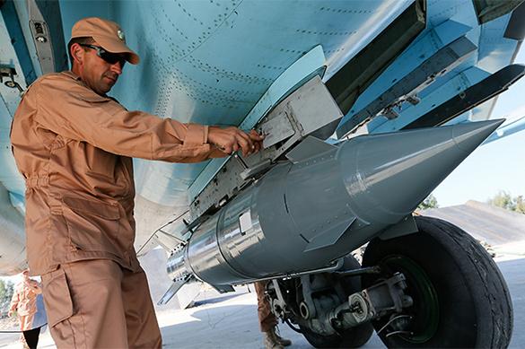 Су-34 уничтожил в Идлибе бункер террористов бомбой КАБ-1500. ВИД