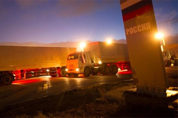 57-ой гумконвой доставил еду и медикаменты в республики Донбасса