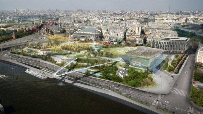 """В центре Москвы открыли парк """"Зарядье"""". В центре Москвы открыли парк Зарядье"""