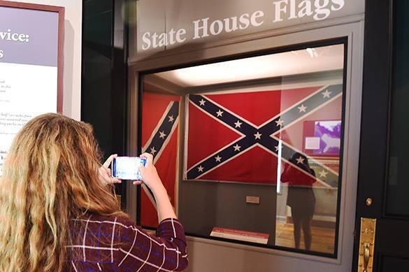 флаг Конфедерации и селфи