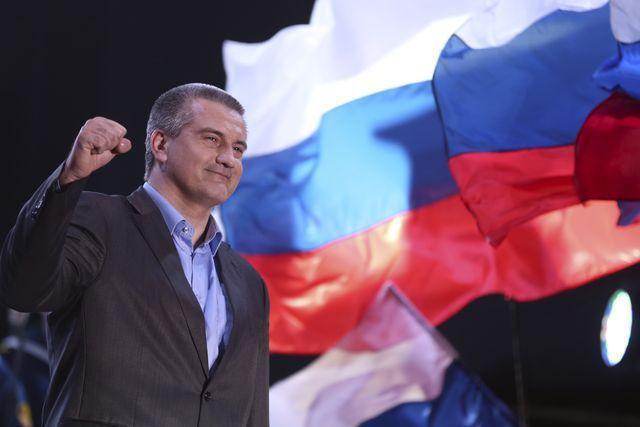 Крымчане отказались надевать украинскую форму даже для киносъемок. Сергей Аксенов на митинге