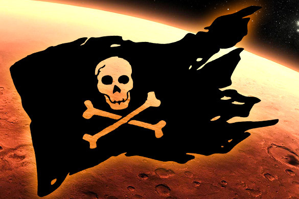 Уфологи нашли на Марсе пиратскую метку