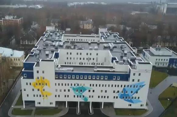 Сотрудники роддома в Коломне обрушили потолок, надувая гимнастический мяч.
