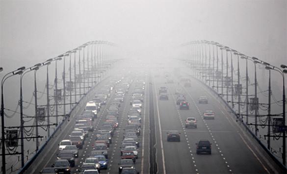 МЧС просит москвичей не выходить на улицу из-за загрязнения воздуха. смог в Москве