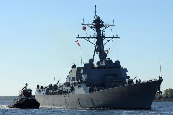 В Балтийское море зашел американский эсминец с 56-ю