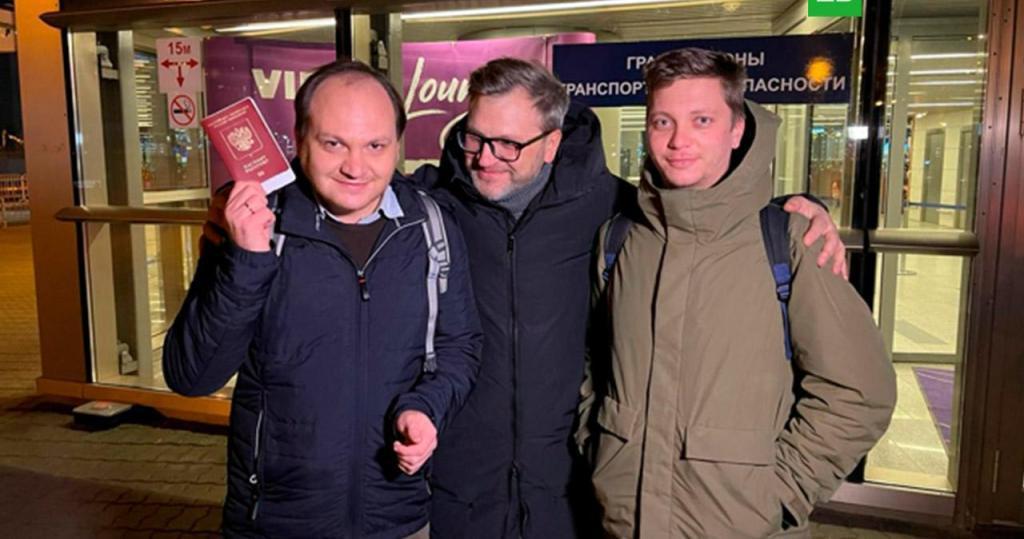 Турецкая тюрьма отменяется: журналисты НТВ вернулись в Россию. фото
