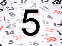 Листок календаря, 5