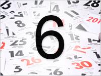 Листок календаря, 6