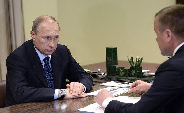 Досрочная отставка Сергея Ерощенко - третья за эту неделю. Путин и Ерощенко