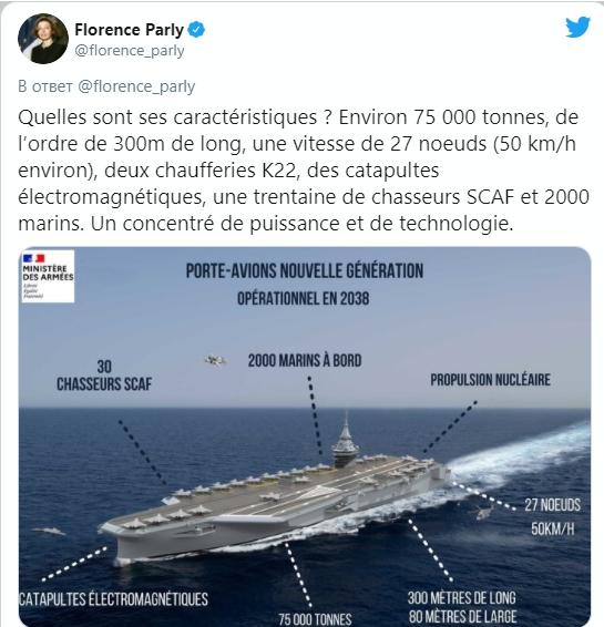 Франция построит авианосец на смену флагману