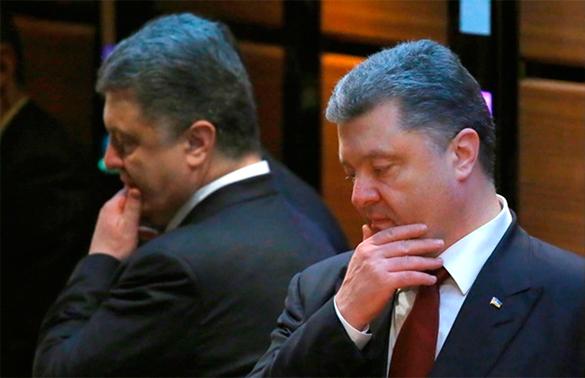 Петр Порошенко не верит в минские соглашения. Петр Порошенко с отражением в зеркале