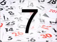 Листок календаря, 7