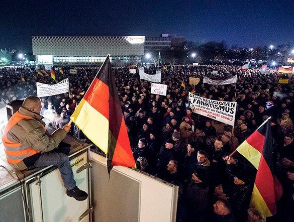 Ганновер. Европа протестует против американизации. Митинг в Германии