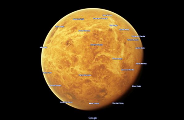 Марс и Венеру в подробностях можно рассмотреть на Google. Марс и Венеру в подробностях можно рассмотреть на Google