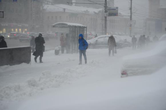 Снежный шторм в Москве побил рекорд 60-летней давности. Снежный шторм в Москве побил рекорд 60-летней давности