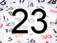Листок календаря, 23