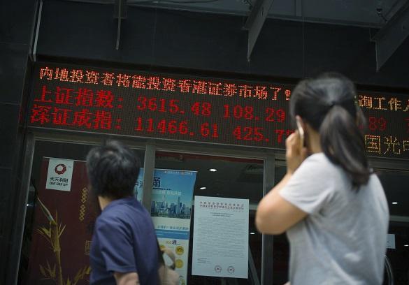 Обвал на биржах Китая