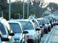 Автомобильное движение на российско-литовской границе