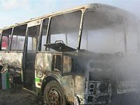 В центре Симферополя сгорел пассажирский автобус