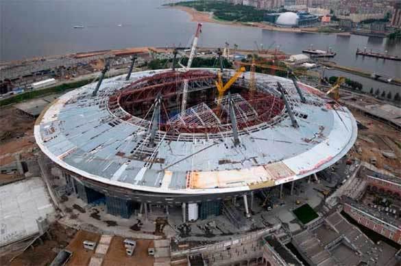 строительство стадиона в Петербурге