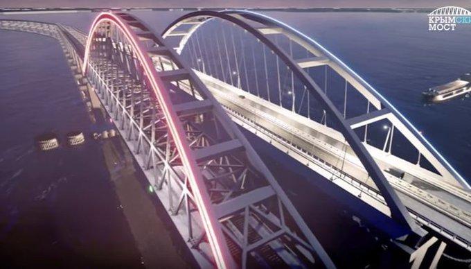 Крымский мост будет светиться цветами российского флага. крымский мост