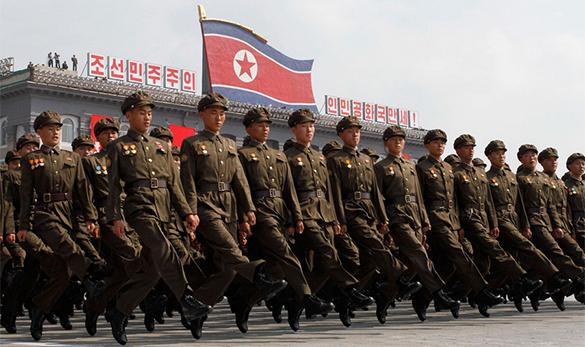 КНДР пригрозила объединить Кореи по-своему. северная корея, парад
