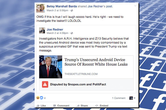 Facebook начал подавление неправильных новостей