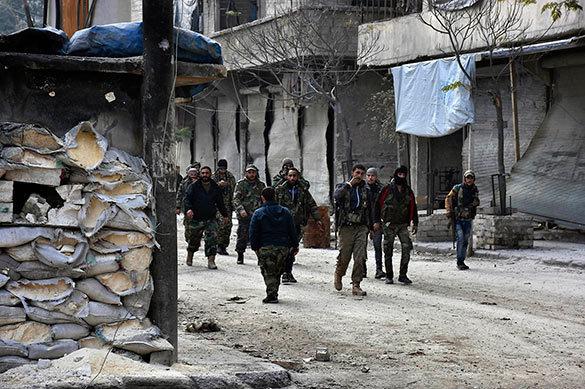 Группа боевиков сдалась сирийским властям в Алеппо. Группа боевиков сдалась сирийским властям в Алеппо
