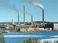 Уволенные работники целлюлозно-бумажного комбината прекратили