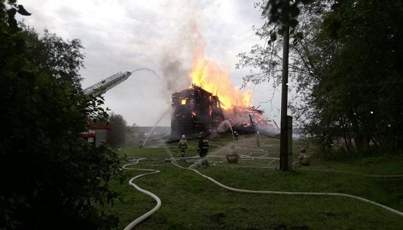 Как горела легендарная Успенская церковь в скандальной Кондопоге